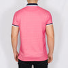Plus Size Jacquard Polo Shirt - DONNAT - Hot Pink