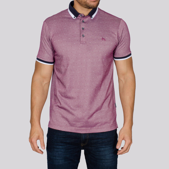 Jacquard Polo Shirt - DONNA - Purple