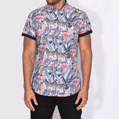 Slim Fit Tropical Short Sleeve Shirt - EPPI - Multi