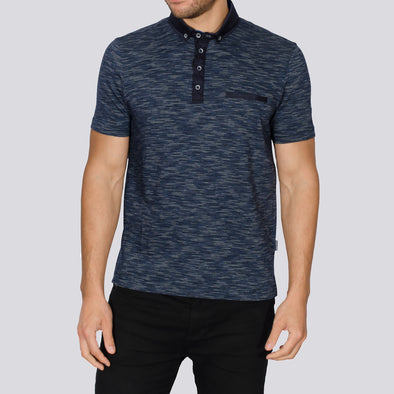 Jacquard Polo Shirt - FODEN - Navy