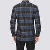 Slim Fit Flannel Long Sleeve Shirt - FREE - Black