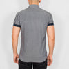 Slim Fit Oxford Short Sleeve Shirt - GALANDB - Grey