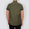 Slim Fit Oxford Short Sleeve Shirt - GALANDB - Khaki