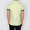 Slim Fit Oxford Short Sleeve Shirt - GALANDB - Lime