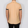 Slim Fit Oxford Short Sleeve Shirt - GALANDB - Orange
