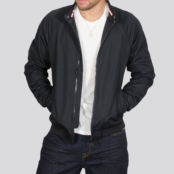 Bomber Jacket - HARRIER - Navy
