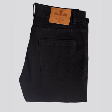 Slim Fit Denim Jeans With Stretch - HILTON - Black
