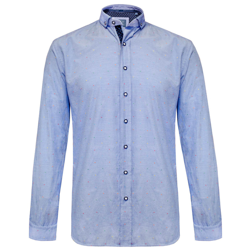 Hurst blue long sleeved shirt Bewley and Ritch