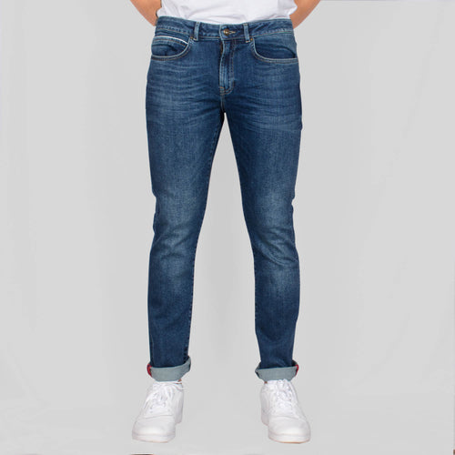 Slim Fit Denim Jeans - IGGY - Mid Wash Blue