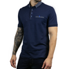 Cotton Jersey Plain Polo Shirt - SOBART - Navy