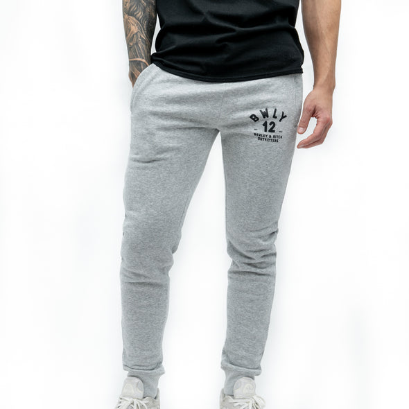 Regular Fit Cotton Joggers - WITTY - Grey