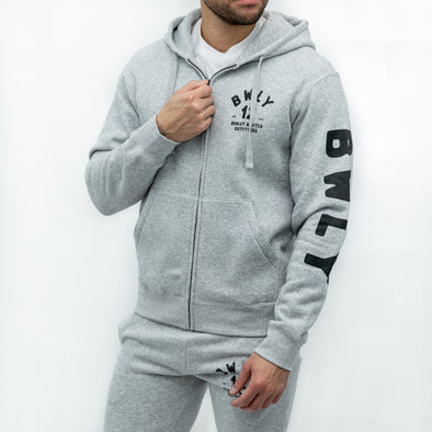 Zip Through Hoodie - COCKHAN - Grey
