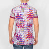 Tropical Print Short Sleeve Shirt - LEAF - White