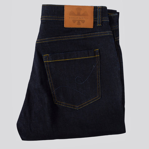 Straight Fit Denim Jeans With Stretch - LEVER - Raw Blue