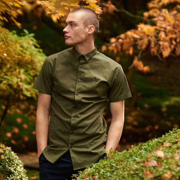 Stretch Short Sleeve Shirt - MAP - Army Green