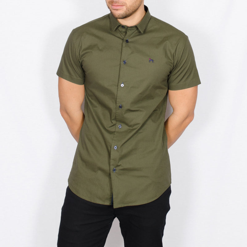 Stretch Short Sleeve Shirt – MAP - Army Green
