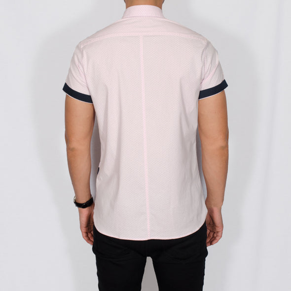Slim Fit Short Sleeve Shirt - MET - Pink