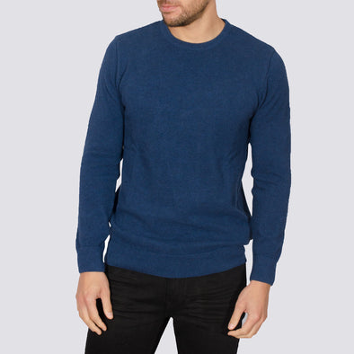 Lightweight Crew Neck Jumper - MONTAN - Denim Blue