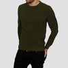 Lightweight Crew Neck Jumper - MONTAN - Olive Green