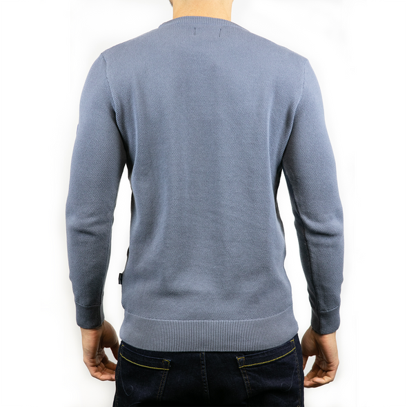 Lightweight Crew Neck Jumper - MONTAN - Slate Blue