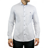Stretch Geo Print Long Sleeve Shirt - NULLA - White