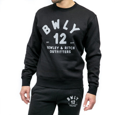 Crew Neck Sweat - ORBIS - Black