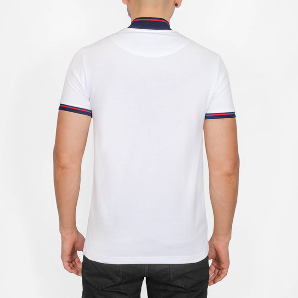 Polo Shirt with Baseball Collar - PARKAY - White