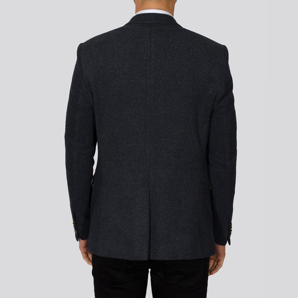 Stretch Textured Blazer - PHOENIX - Navy