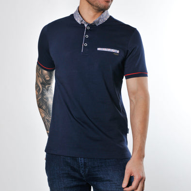 Cotton Jersey Polo Shirt - PUPPIS - Navy