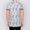 Slim Fit Floral Short Sleeve Shirt - RAME - Sky