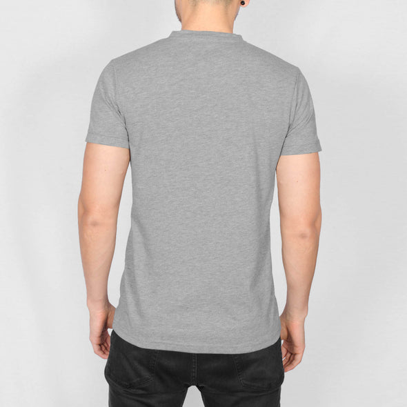 Regular Fit Cotton T-Shirt - ROMAN - Grey Marl