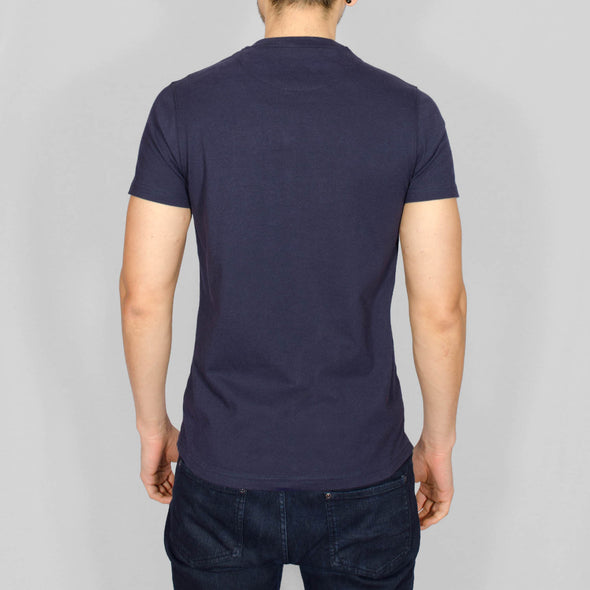 Regular Fit Cotton T-Shirt - ROMAN - Navy