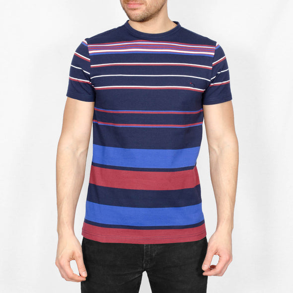 Striped Cotton T-Shirt - RON - Navy