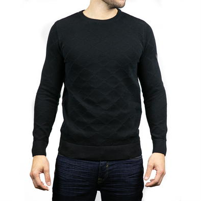 Lightweight Crew Neck Jumper - RYDER - Black