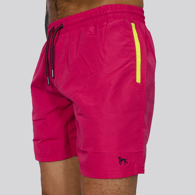 Swim Shorts - SAND - Hot Pink