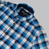 Boys Flannel Shirt - STATION - Blue