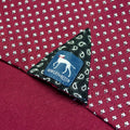 Street burgundy print polo Bewley and Ritch