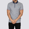 Digital Print Polo Shirt - STRIPER - Navy