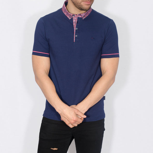 Jersey Polo Shirt - TIN - Navy