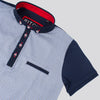 Boys Digital Print Polo Shirt - TRAIL - Navy