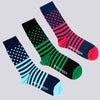 Stripes and Spots Socks Three Pack - TWEED - Multi