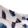 Slim Fit Feather Print Long Sleeve Shirt - VANE - White