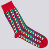 Microprint Socks Three Pack - VASILI - Blue/Orange/Red