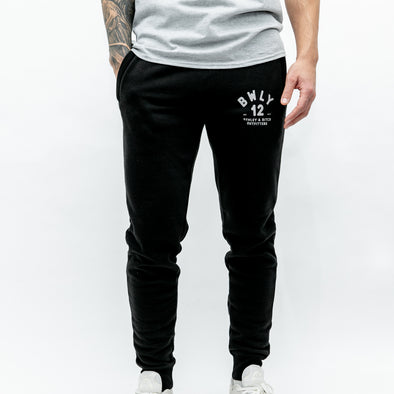Regular Fit Cotton Joggers - WITTY - Black