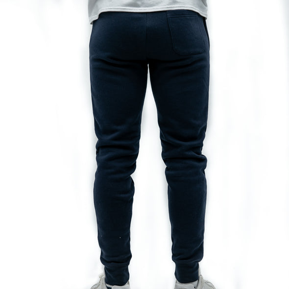 Regular Fit Cotton Joggers - WITTY - Navy