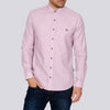 Slim Fit Repeat Print Long Sleeve Shirt - WON - White