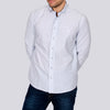 Slim Fit Microdot Long Sleeve Shirt - YEATES - Navy
