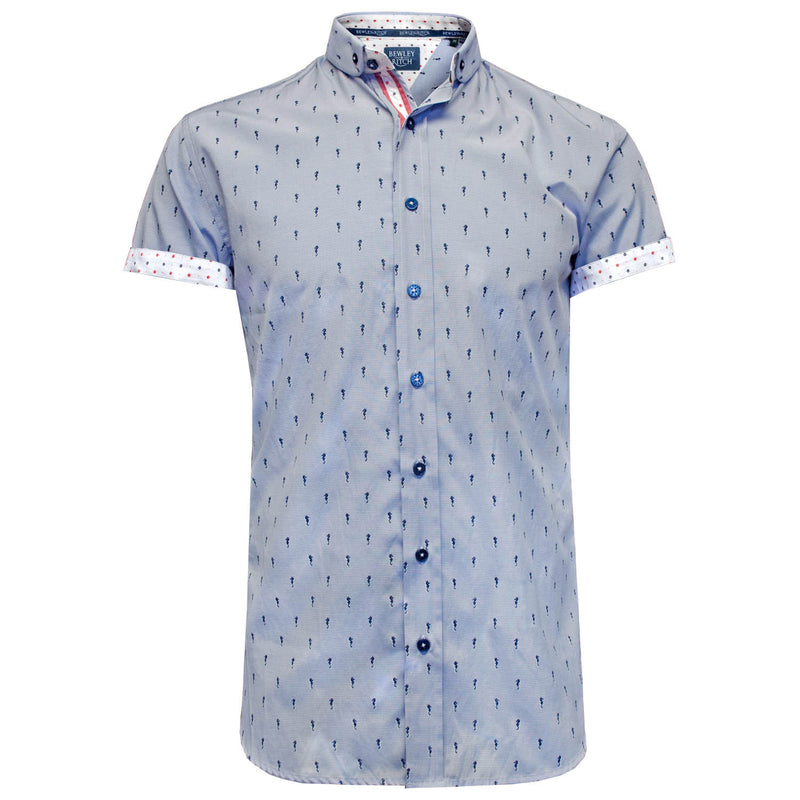 Zioni sky sea horse short sleeved shirt Bewley and Ritch