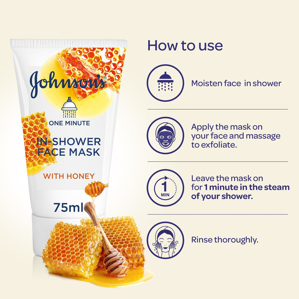 Johnson's In Shower Honey Face Mask 75ML