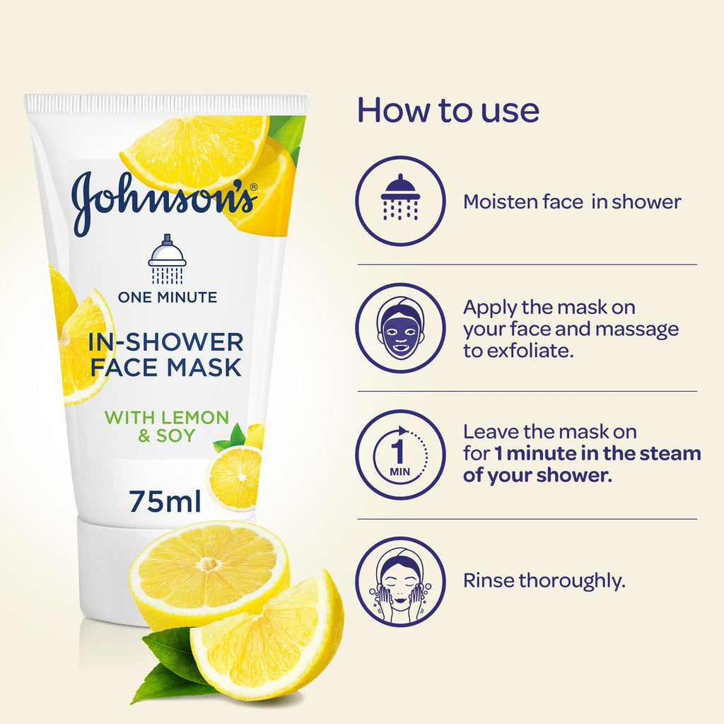 Johnson's In Shower Lemon & Soy Face Mask 75ML